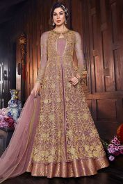Designer Indo Western Dress Onion Pink For Party #Fabja #gowns #fashion #weddinggown #partyweargown #gown #gowndesigner #gownstyle #salwarsuitonline #designersuits #anarkalisuitsonline #longanarkali #longanarkali #anarkalisuit #salwarsuit #designersalwarsuit #anarkalisalwarsuit #anarkalidress #receptiondress #salwarkameez #suit #sale #love