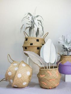 Boho Folding Seagrass Basket