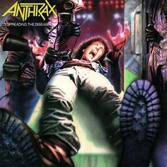 I believe it was 86 there was a ride at a amusement park that I would  go to every summer. The guy would play heavy metal all the time especially MAIDEN. Don't recall the name of the ride ,but I remember the day he played this one especially the song MEDUSA.  ANTHRAX / SPREADING THE DISEASE ( DAN BENEVIDES )