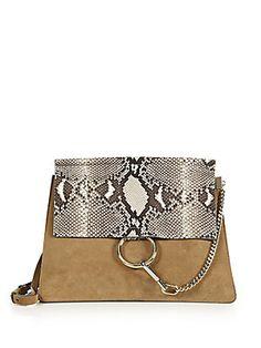 purses /// Chloe Faye Medium Python handbag l #2015 l #purse
