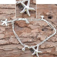Silver Starfish Anklet