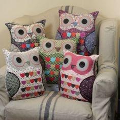 Vintage Inspired Owl Cushion