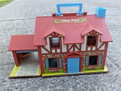 Vintage 1980 Fisher Price Tudor House with Accessories