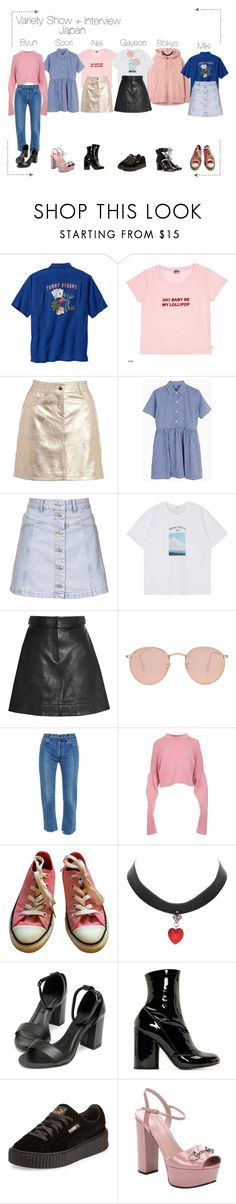 """""""Lunar (루나) Variety Show + Interview"""" by lunar-official ❤ liked on Polyvore featuring Love Moschino, Topshop, Alexander Wang, Ray-Ban, Vetements, TIBI, Converse, Marc Jacobs, Puma and Gucci"""