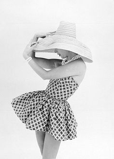 Marla Scarafia in a Federica sun suit photographed by John French, London, 1958.