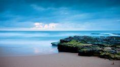 Blue Ocean, beach, beautiful, beauty, blue, clouds, nature, ocean, rocks, sand, sky