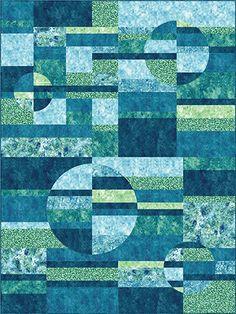 Quilt Kit TOP: Quattro Lune by Trilluum Ridge Quilt Patterns | Lap Size