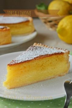 Italian Food ~ ~ Lemon cake like White windmill ( Torta al limone simil Mulino bianco ) Italian Desserts, Italian Dishes, Just Desserts, Italian Recipes, Delicious Desserts, Yummy Food, Healthy Food, Mexican Food Recipes, Sweet Recipes