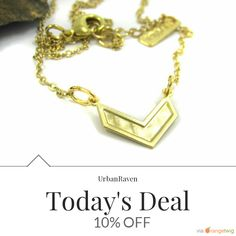 Today Only! 10% OFF this item.  Follow us on Pinterest to be the first to see our exciting Daily Deals. Today's Product: Daily Sale Gold chevron Necklace, Geometric necklace, V jewelry, Modern jewelry, V necklace, Gold necklace, Gift for her, under 40, Birthday Buy now: https://www.etsy.com/listing/279680284?utm_source=Pinterest&utm_medium=Orangetwig_Marketing&utm_campaign=daily%20deal%202   #etsy #etsyseller #etsyshop #etsylove #etsyfinds #etsygifts #musthave #loveit #instacool #shop…