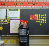 Give your classroom setup a theme! Kids will be excited to come back to school.