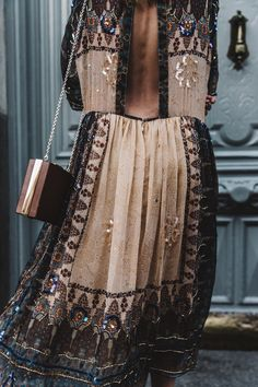 Asos Boho Beading dress | collage vintage