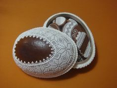 Slovak gingerbread egg box with egg cookies
