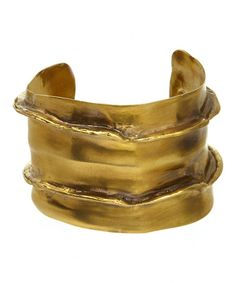Loving this Goldtone Canyon Cuff on #zulily! #zulilyfinds