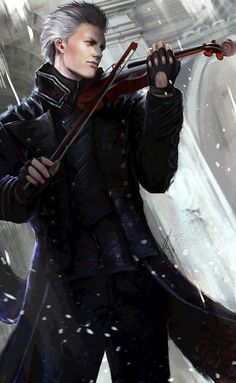 Where we celebrate the Devil May Cry series. Vergil Dmc, Dino Crisis, Dante Devil May Cry, Dmc 5, D D Characters, Fan Art, Game Character, Beautiful Artwork, Crying