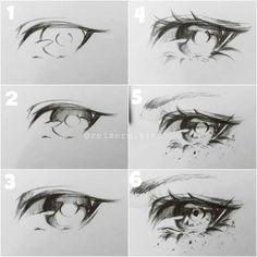 Anime Drawings Sketches, Pencil Art Drawings, Cool Art Drawings, Eye Drawings, Pencil Sketching, Realistic Drawings, Manga Drawing Tutorials, Art Tutorials, Beauty Tutorials
