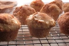 Donut Muffins (keep pretty well; good for using up spare buttermilk after brown bread)