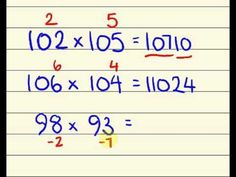 Fast maths trick - multiply two numbers near 100 faster than a calculator using vedic math