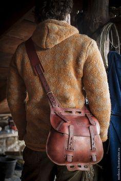 Мужские сумки ручной работы. Ярмарка Мастеров - ручная работа. Купить сумка №061. Handmade. Коричневый