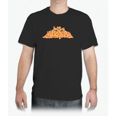 Candy Corn Cat - Mens T-Shirt