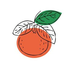Fruit Print Pattern Orange Ideas For 2019 Landscape Illustration, Illustration Art, Art Drawings, Cartoon Drawings, Design Art, Graphic Design, Fruit Print, Mellow Yellow, Food Illustrations