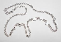 Sieben Katzen zum Glück, 925er Silberkette von Einäuglein  auf DaWanda.com
