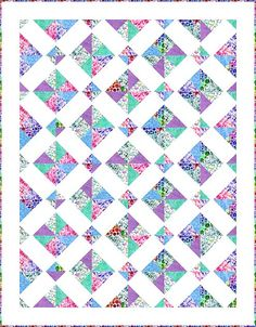 Disappearing charm quilt - made with Shine On collection by Hoffman California
