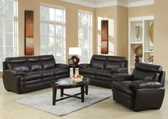 Acme Modern Brown Sofa Couch Loveseat Chair Tufted Sofa Living Room