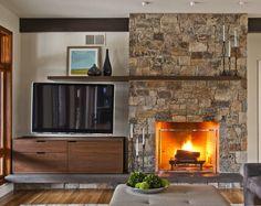 offset fireplace and tv   Living Room Remodel   Pinterest   Living ...