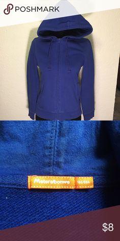 Metersbonwe  blue hoodie A little bit faded see pictures. 100% cotton Metersbonwe Jackets & Coats