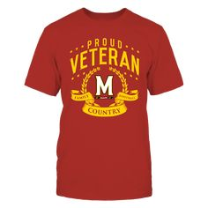 Maryland Terrapins Proud Veteran T-Shirt, University of Maryland Official Apparel  - Wear Your Pride!  The Maryland Terrapins Collection, OFFICIAL MERCHANDISE  Available Products:          Gildan Unisex T-Shirt - $25.95 District Men's Premium T-Shirt - $27.95 Gildan Women's T-Shirt - $27.95 District Women's Premium T-Shirt - $29.95 Next Level Women's Premium Racerback Tank - $29.95 Gildan Long-Sleeve T-Shirt - $33.95 Gildan Fleece Crew - $39.95 Gildan Unisex Pullover Hoodie - $49.95…