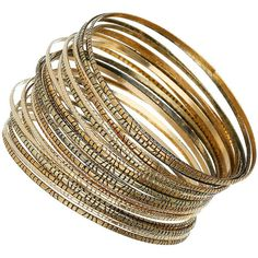 28 textured gold look bangles ($11) ❤ liked on Polyvore featuring jewelry, bracelets, accessories, pulseras, bangles, women, gold bangles, yellow gold bangle bracelet, gold jewellery и yellow gold bangle