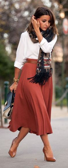 Burgundy And White Pfw Outfit by Lovely Pepa
