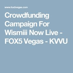 Crowdfunding Campaign For Wismiii Now Live - FOX5 Vegas - KVVU