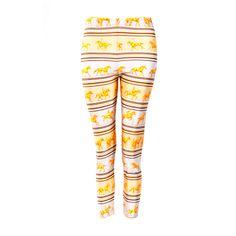 Hermes Yellow/Brown leggings | 1stdibs.com
