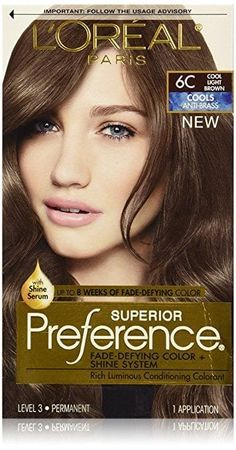 L'Oreal Paris Hair Color Superior Preference Fade-Defying Color Shine System, Cool Light Brown >>> Continue to the product at the image link. Brown Hair Shades, Brown Hair With Blonde Highlights, Hair Color Highlights, Light Brown Hair, Best Hair Color Brand, Hair Color Brands, Hair Color Auburn, Brown Hair Colors, Hair Colours