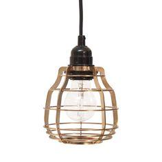 Lampe lab cuivre by HK living Copper Pendant Lights, Copper Lamps, Copper Lighting, Brass Lamp, Chandelier Lamp, Pendant Lamp, Ceiling Rose, Ceiling Lights, Retro Lampe