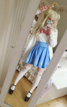 fashion ✧ kawaii, the TOP of the skirt... ;P pastelbat
