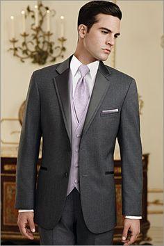 Jean Yves Steel Grey Tuxedo by Jim's Formal Wear. Tuxedo rentals at Brides 'n Maids Tuxedo Wedding, Wedding Groom, Wedding Suits, Wedding Tuxedos, Wedding Dinner, Wedding Attire, Prom Tuxedo, Daytime Wedding, Wedding Night
