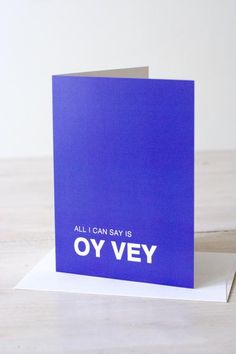Funny Jewish greeting card for sympathy, sorry, or oops occasions.