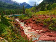 Red Rock Canyon Waterton NP Waterton Lakes National Park, Camping Outdoors, Backpacking, Hiking, Canada, River, Adventure, Mountains, Rock