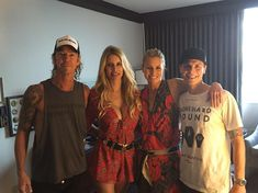 Duff McKagan,Susan Holmes,Niki Taylor and Burney Lamar july 2016