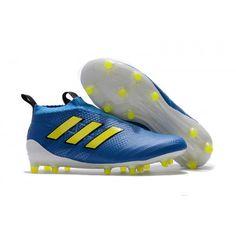 reputable site 6e877 291da Adidas ACE 17+ Purecontrol FG Fotbollsskor Blå Gul Vit