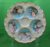 Haviland Porcelain Yellow with Shells Oyster Plate