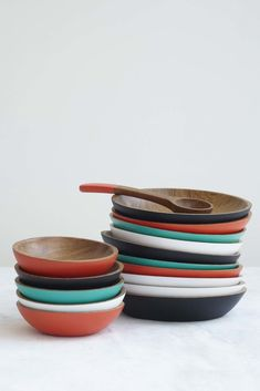 Lacquered Wooden Plates by Onora Casa