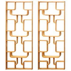 Pair of Room Dividers or Bookcases, Iconic Design by Drevopodnik