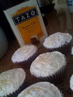 my recipe: chai honey cupcakes
