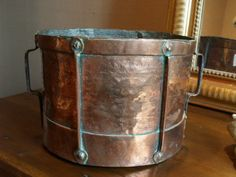 http://thegablesantiques.com Late 18th century copper grain measure