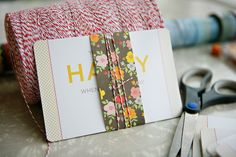 diy {You Make Me Happy postcard gifts}