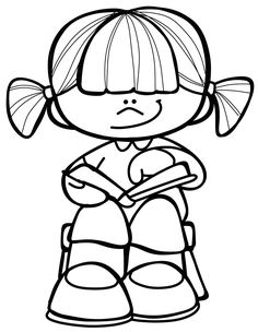 Colouring, Coloring Pages, Drawing Sketches, Drawings, School Clipart, Clipart Black And White, Dibujos Cute, Binder Covers, Digital Stamps