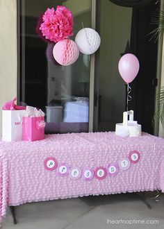 Creative Pink Baby Shower Ideas and Printable Baby Shower Games!  #baby #showers